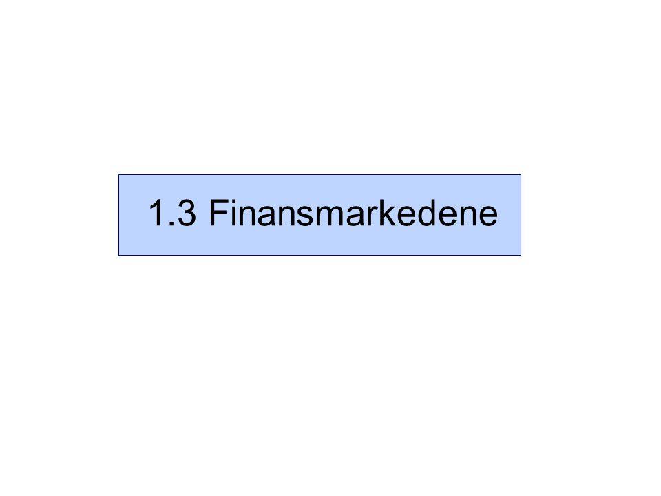1.3 Finansmarkedene