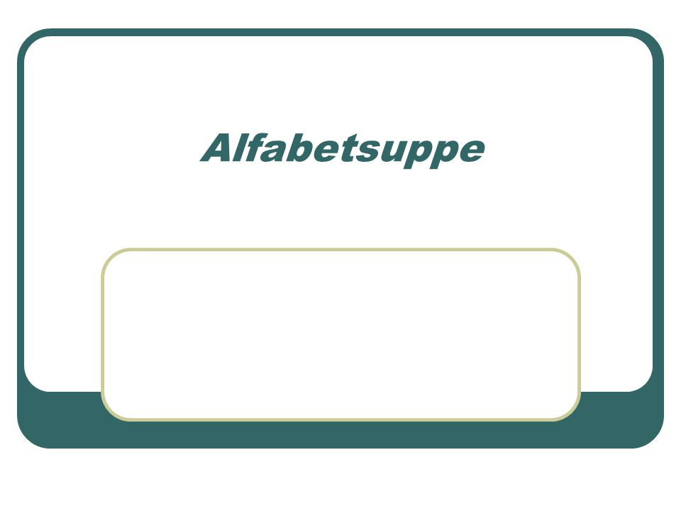 Alfabetsuppe