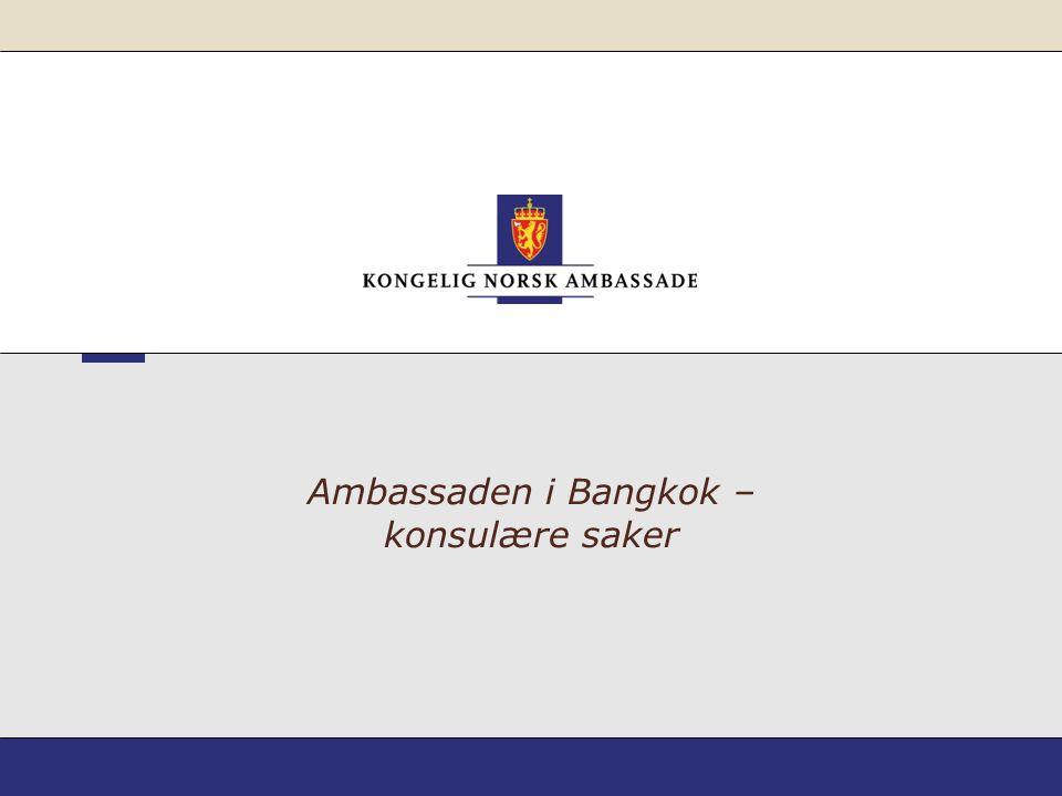 Ambassaden i Bangkok – konsulære saker