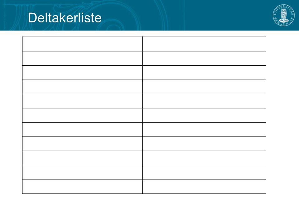 Deltakerliste