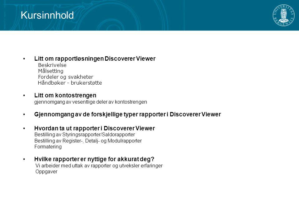 Logg deg inn ved å følge denne linken: https://safran.uib.no:4444/discoverer/viewer Discoverer Viewer Velg Opprett tilkobling eller velg ønsket Tilkobling (UIB/UNIFOB/RAND) direkte