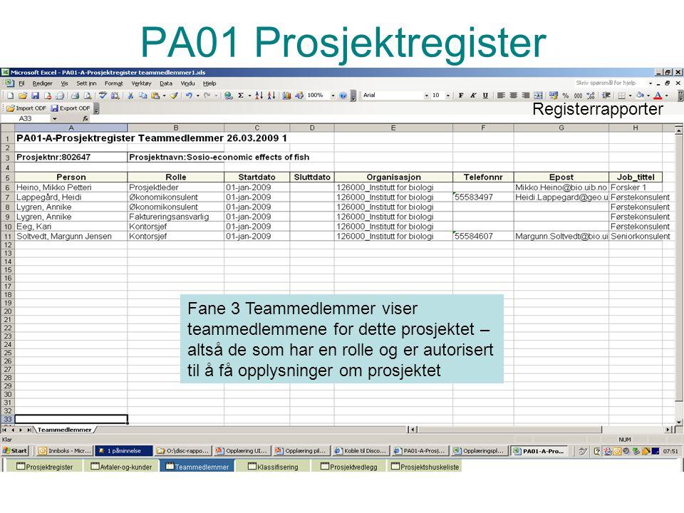 Prosjektadministrasjon PA PA01 Prosjektregister Fane 4 Klassifisering viser bla konteringsregel, mva-regel, kommersialiseringspotensiale, konfidensialitet.