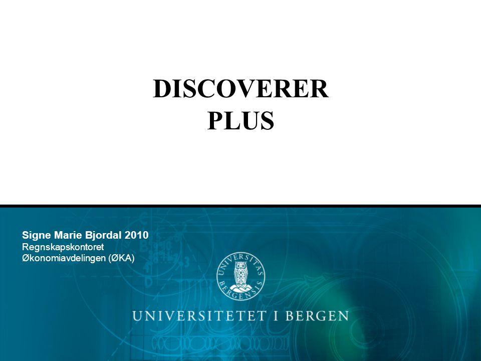Logg deg inn ved å følge denne linken: https://gurkemeie.uib.no:4444/discoverer/plus Discoverer Plus Velg Opprett tilkobling eller velg ønsket Tilkobling (UIB/UNIFOB/RAND) direkte