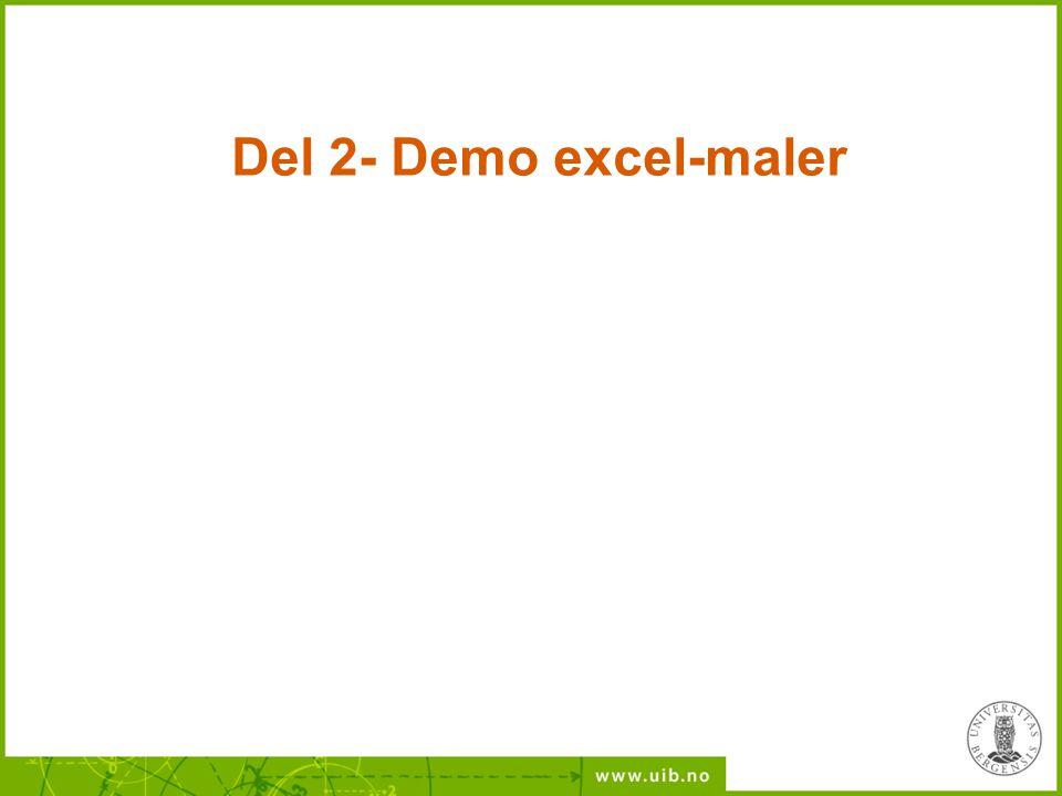 Del 2- Demo excel-maler