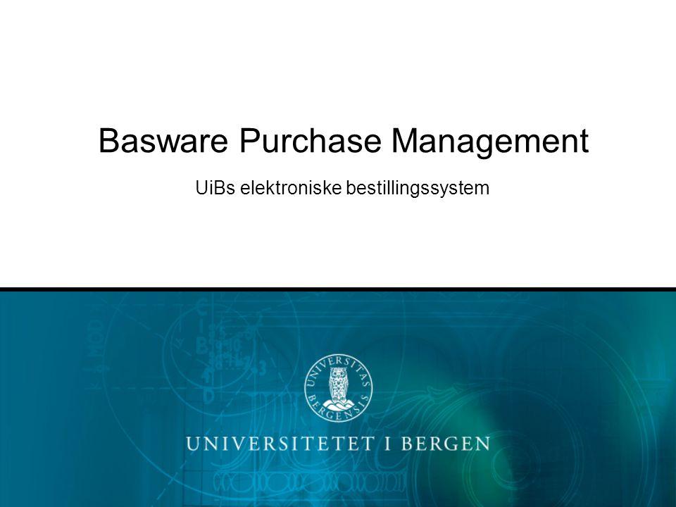 Basware PM er UiBs verktøy for å registrere og forhåndsgodkjenne alle bestillinger i henhold til statens økonomireglement Ved hjelp av et unikt ordrenummer, et såkalt PM-nummer , får vi en entydig kobling mellom faktura og bestilling Hva er Basware PM?