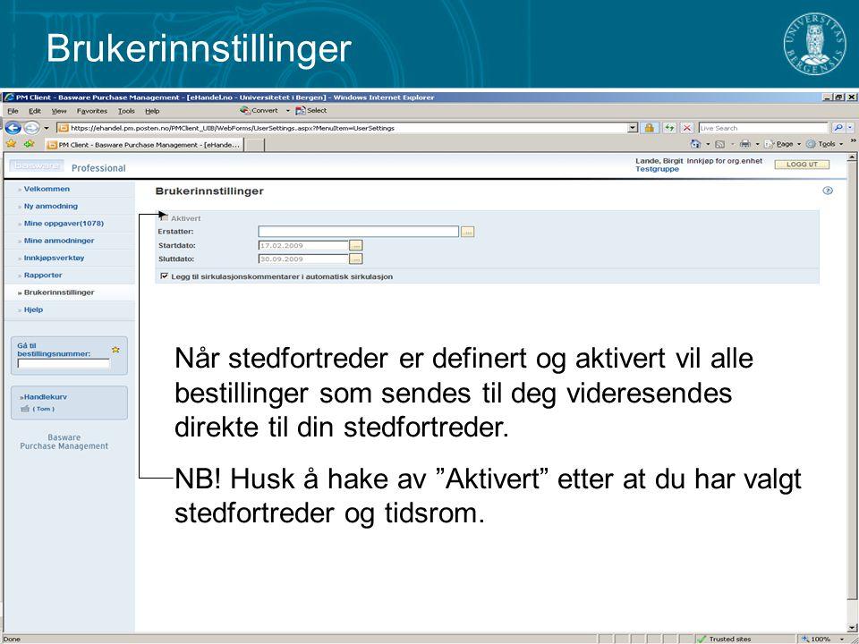 Hjelp Kontakt administrator viser en e- postadresse som kan benyttes for henvendelser til administrator.