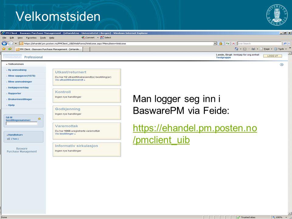 Introduksjon MenylinjerVentende oppgaver Navn på bruker Navn på fakultet / avdeling (i dette tilfellet Testgruppe )