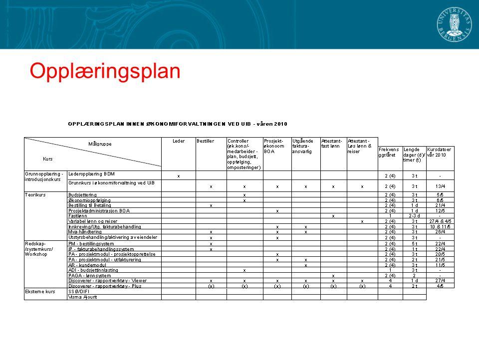 Økonomiforvaltning - planer
