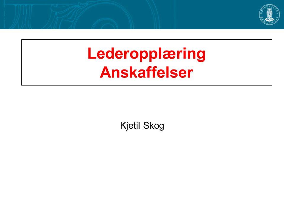 Lederopplæring Anskaffelser Kjetil Skog
