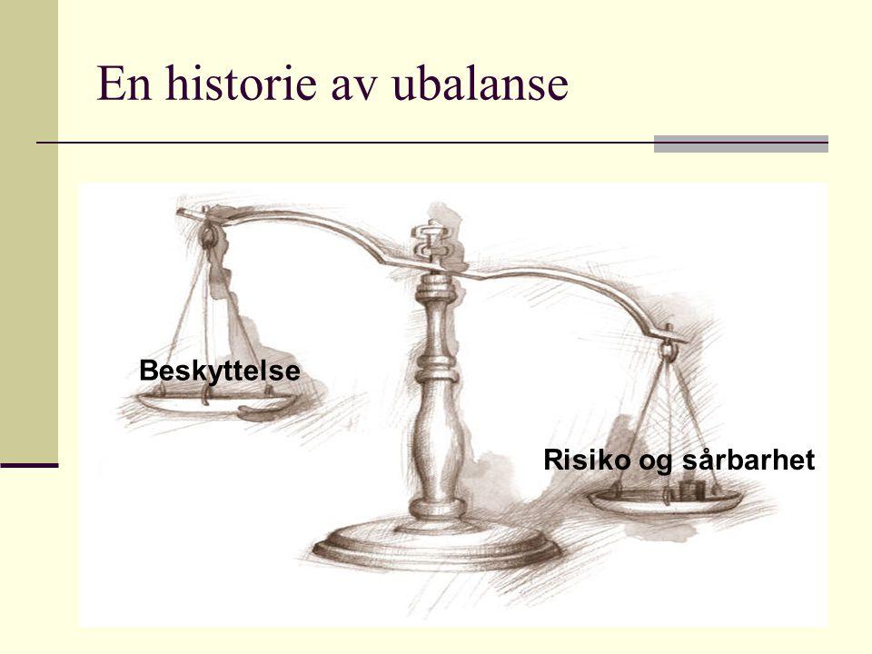 Risiko og sårbarhet Beskyttelse En historie av ubalanse