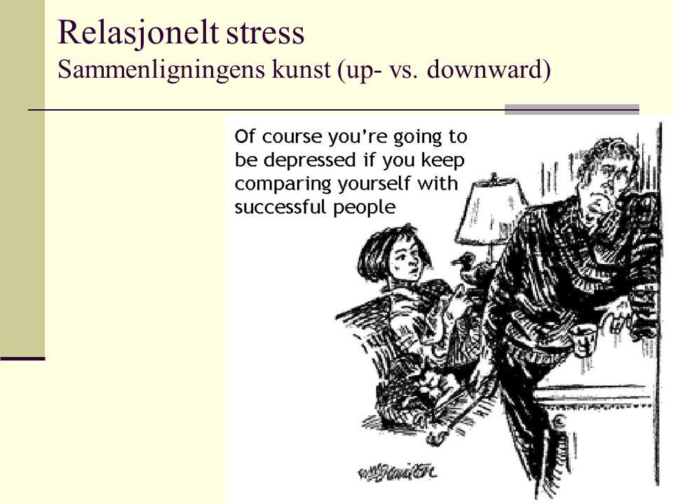 Relasjonelt stress Sammenligningens kunst (up- vs. downward)