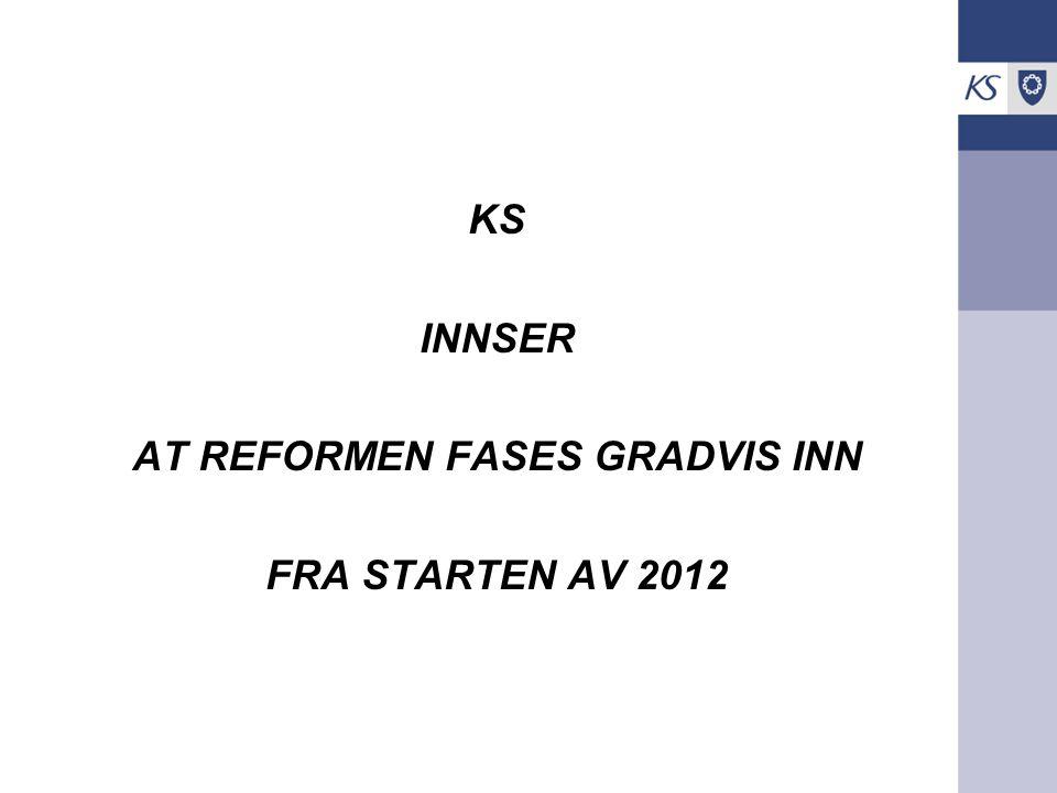 KS INNSER AT REFORMEN FASES GRADVIS INN FRA STARTEN AV 2012