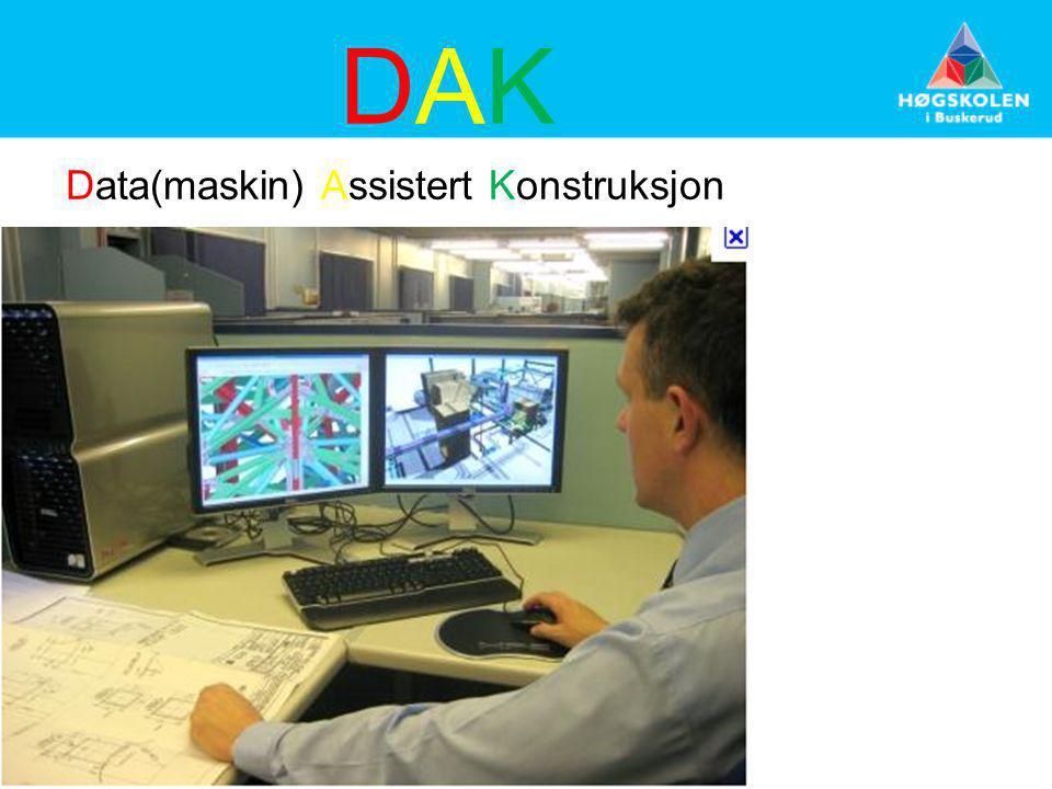 DAKDAK Data(maskin) Assistert Konstruksjon