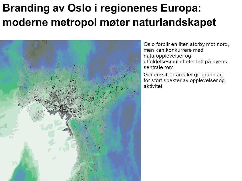 Branding av Oslo i regionenes Europa: moderne metropol møter naturlandskapet Oslo forblir en liten storby mot nord, men kan konkurrere med naturopplevelser og utfoldelsesmuligheter tett på byens sentrale rom.