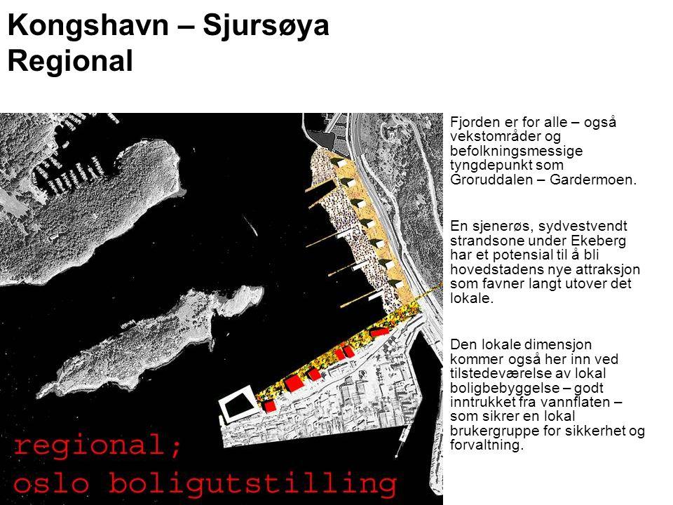 Kongshavn – Sjursøya Regional Fjorden er for alle – også vekstområder og befolkningsmessige tyngdepunkt som Groruddalen – Gardermoen. En sjenerøs, syd