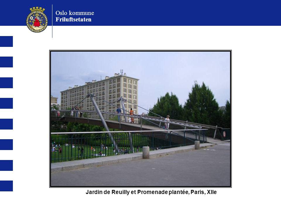 Oslo kommune Friluftsetaten Jardin de Reuilly et Promenade plantée, Paris, XIIe