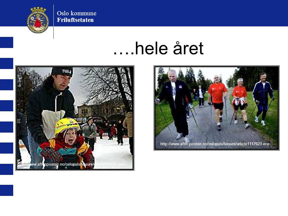 ….hele året Oslo kommune Friluftsetaten http://www.aftenposten.no/oslopuls/leisure/article1117623.ece http://www.aftenposten.no/oslopuls/leisure/article258872.ece