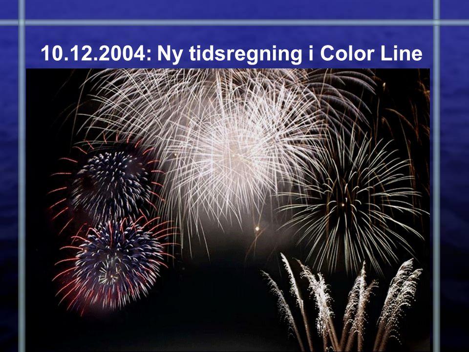 10.12.2004: Ny tidsregning i Color Line