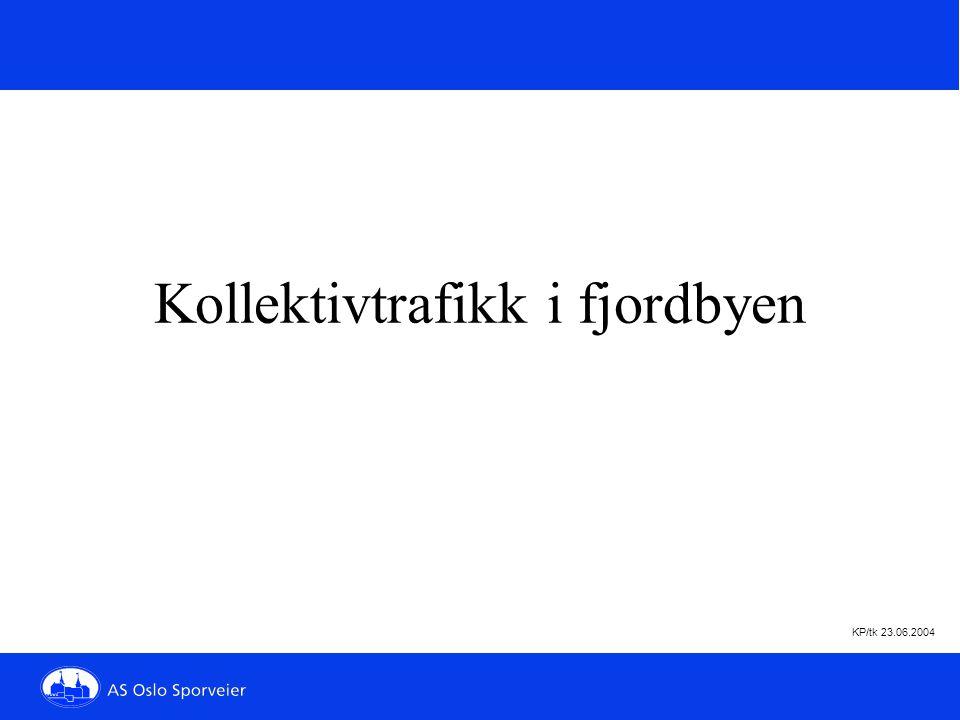 KP/tk 23.06.2004 Planlegg på forh å n d Kollektivtrafikk i fjordbyen
