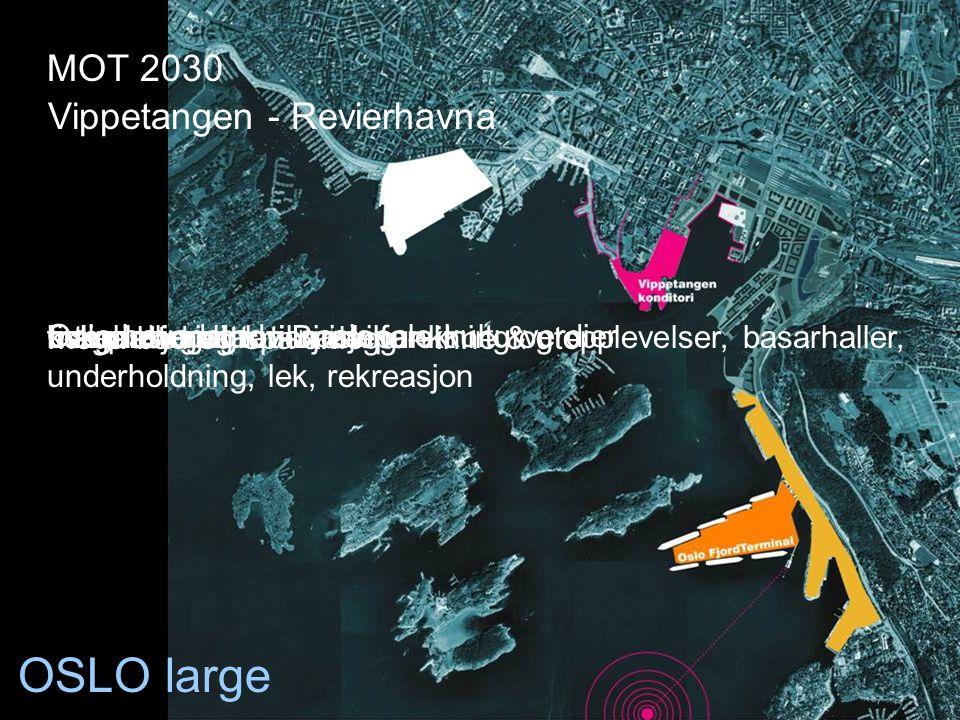 OSLO large Oslo hovedstad - nasjonale kulturverdier komplettering av Bjørvikafiskehall, gastronomisk forskning og opplevelser, basarhaller, underholdn