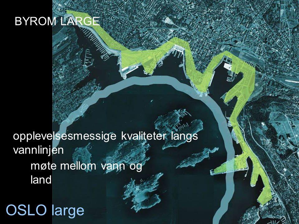 OSLO large opplevelsesmessige kvaliteter langs vannlinjen møte mellom vann og land BYROM LARGE