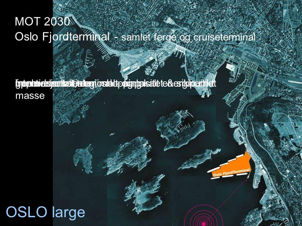 OSLO large Oslo Fjordterminal - samlet ferge og cruiseterminal fremtidsrettet terminal – kapasitet & sikkerhetinternasjonalt, regionalt og lokalt ener