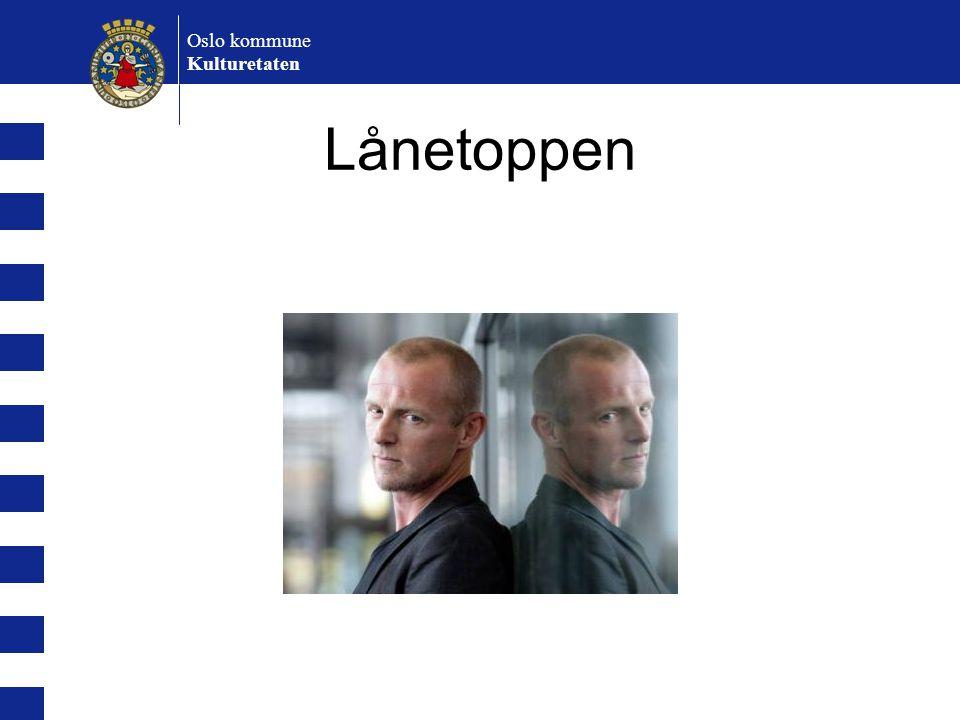 Oslo kommune Kulturetaten Lånetoppen