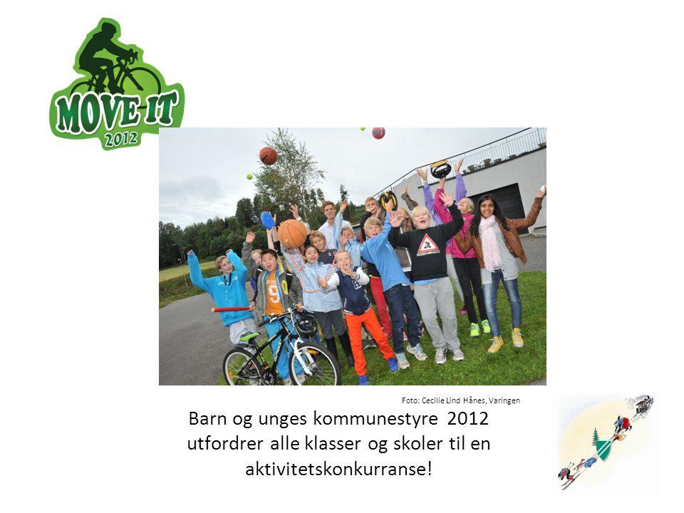 Foto: Cecilie Lind Hånes, Varingen ingen Barn og unges kommunestyre 2012 utfordrer alle klasser og skoler til en aktivitetskonkurranse!