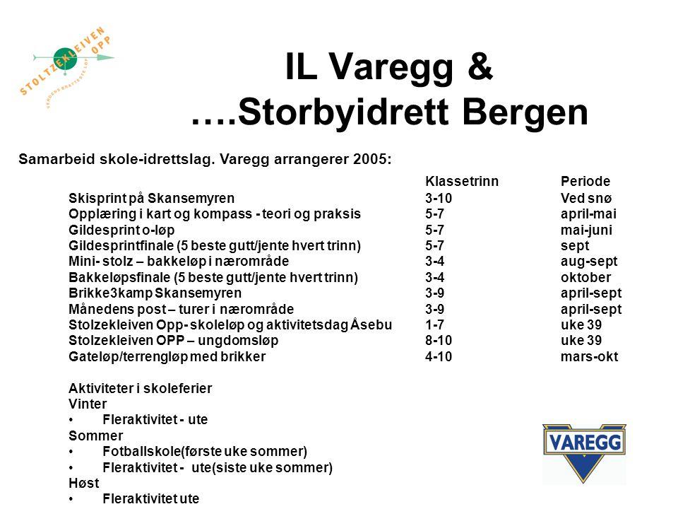 IL Varegg & ….Storbyidrett Bergen Samarbeid skole-idrettslag.