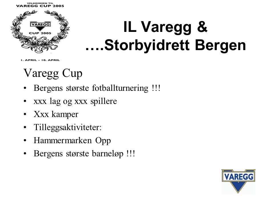 IL Varegg & ….Storbyidrett Bergen Varegg Cup Bergens største fotballturnering !!.