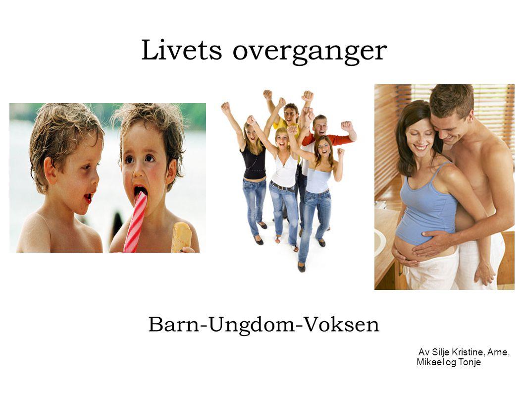 Livets overganger Barn-Ungdom-Voksen Av Silje Kristine, Arne, Mikael og Tonje