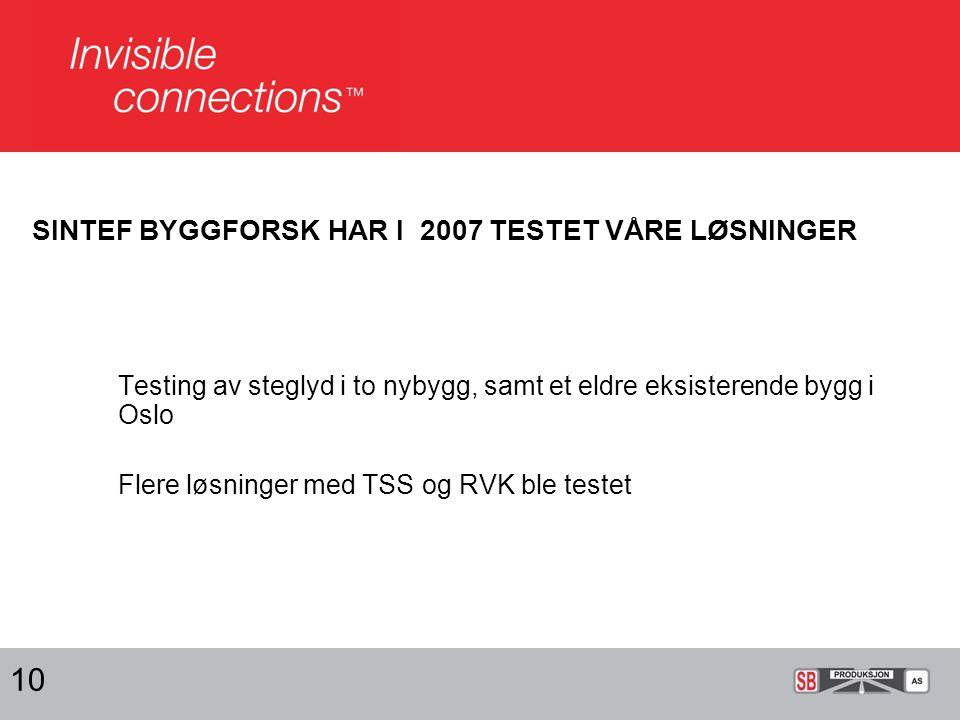 UTSTYRET FOR Å LAGE STEGLYD 11