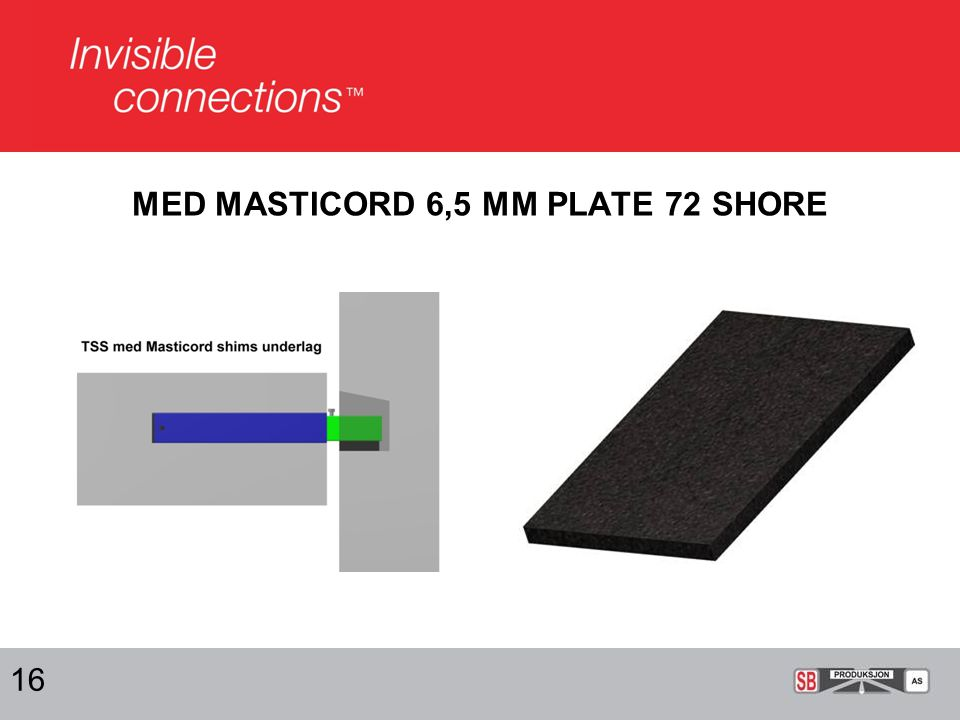 MED MASTICORD 6,5 MM PLATE 72 SHORE 16