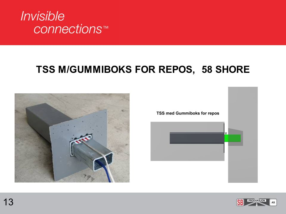 TSS M/GUMMIBOKS FOR REPOS, 58 SHORE 13