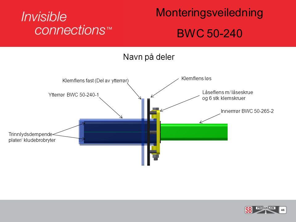 Monteringsveiledning BWC 50-240 Sveising av BWC enhet til søyle