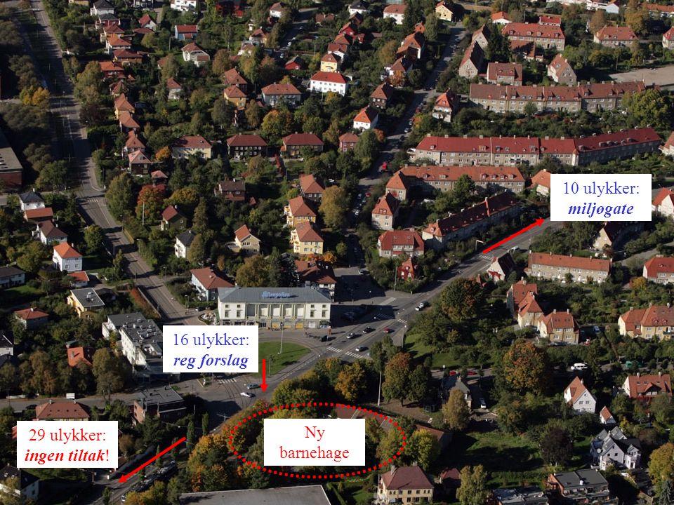 5 Sognsveien: John Collets plass– Kirkeveien er ulykkesstrekning