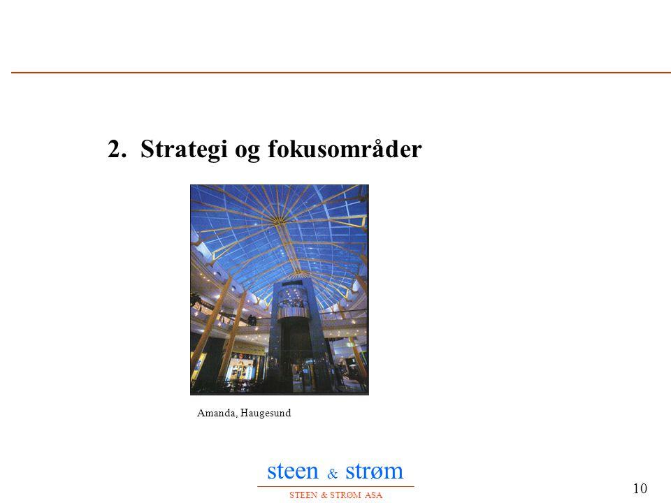 steen & strøm STEEN & STRØM ASA 10 2. Strategi og fokusområder Amanda, Haugesund