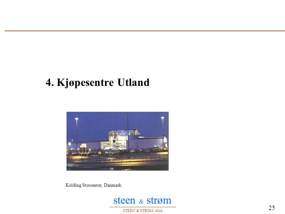 steen & strøm STEEN & STRØM ASA 25 4. Kjøpesentre Utland Kolding Storsenter, Danmark