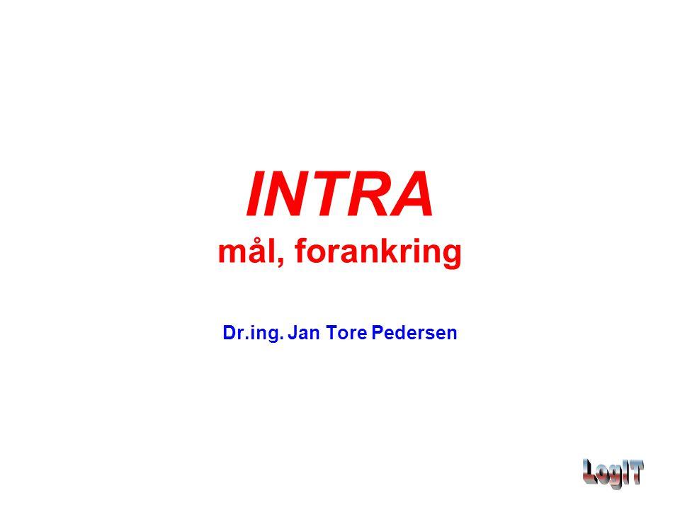 INTRA mål, forankring Dr.ing. Jan Tore Pedersen
