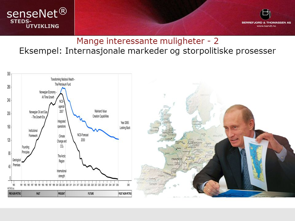 Mange interessante muligheter - 2 Eksempel: Internasjonale markeder og storpolitiske prosesser