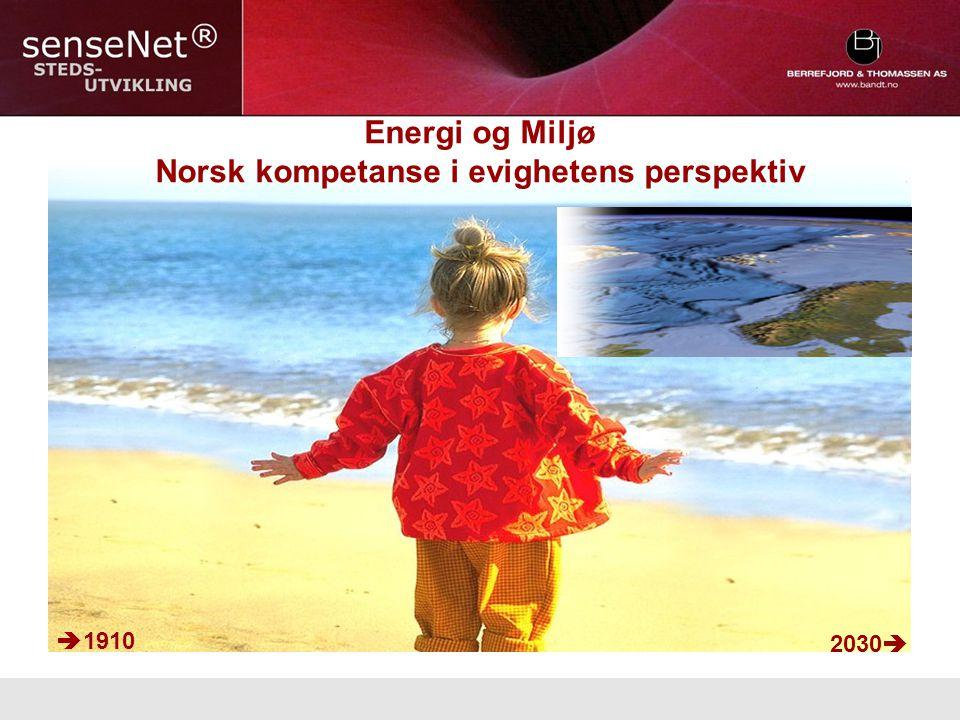 Energi og Miljø Norsk kompetanse i evighetens perspektiv  1910 2030 