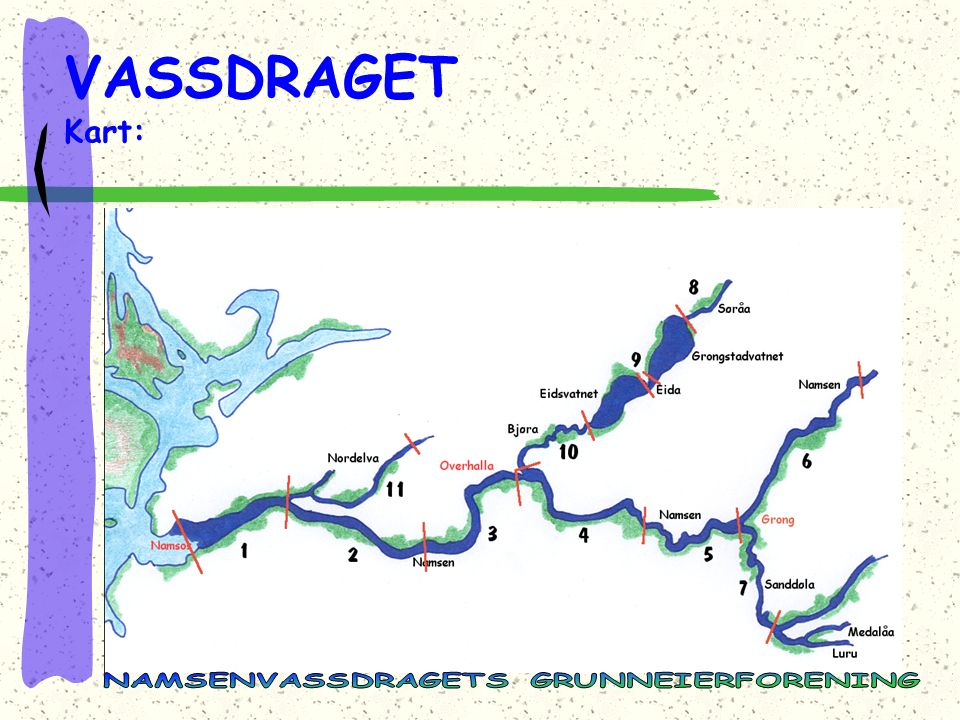 VASSDRAGET Kart: