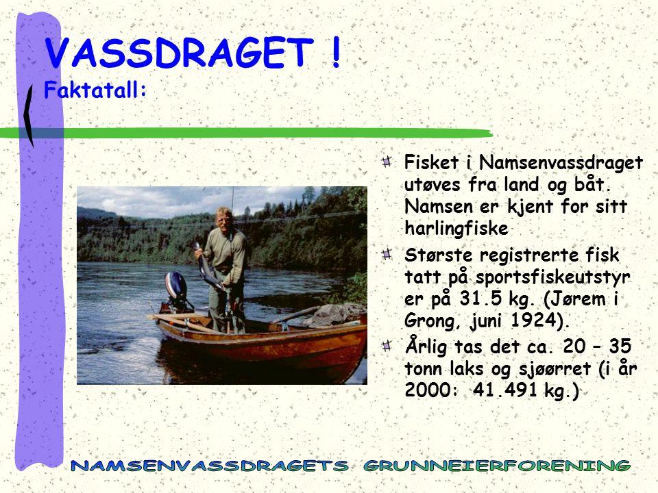 VASSDRAGET .Faktatall: Fisket i Namsenvassdraget utøves fra land og båt.