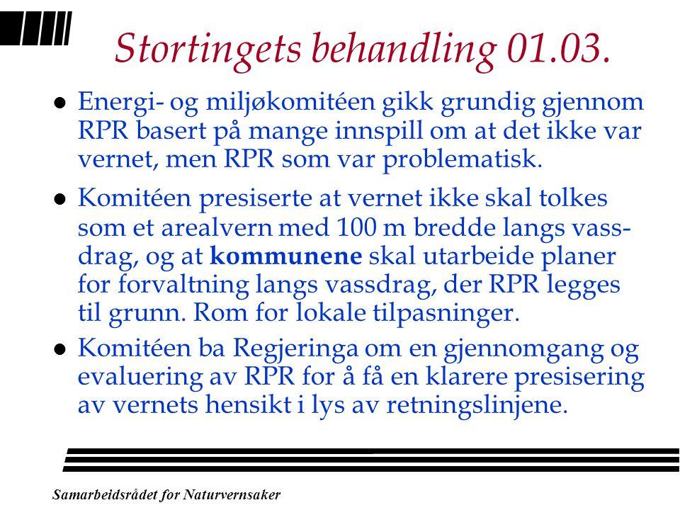 Samarbeidsrådet for Naturvernsaker Rikspolitiske retningslinjer l Dette betyr: –LNF-områdene regulerer ikke fysiske tiltak som har sammenheng med vanl