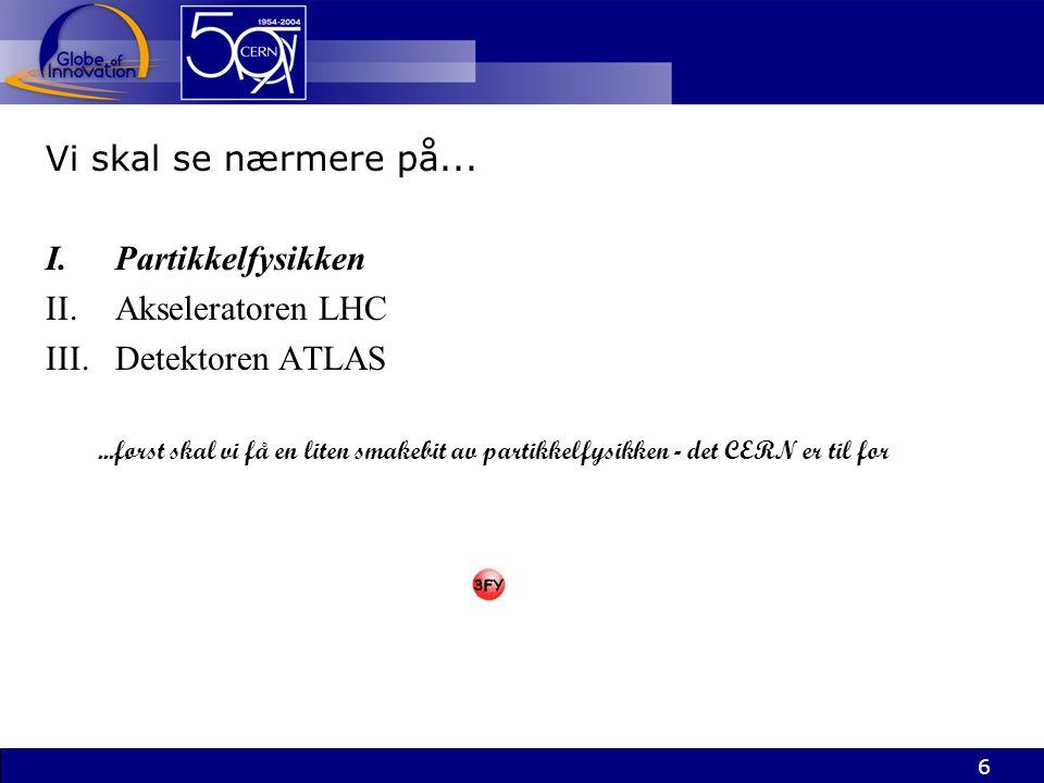 27 Formål: detektorer Formål: detektoren ATLAS Å observere resultatet av partikkelkollisjonene...av de MANGE partikkelkollisjonene...og luke ut de få interessante
