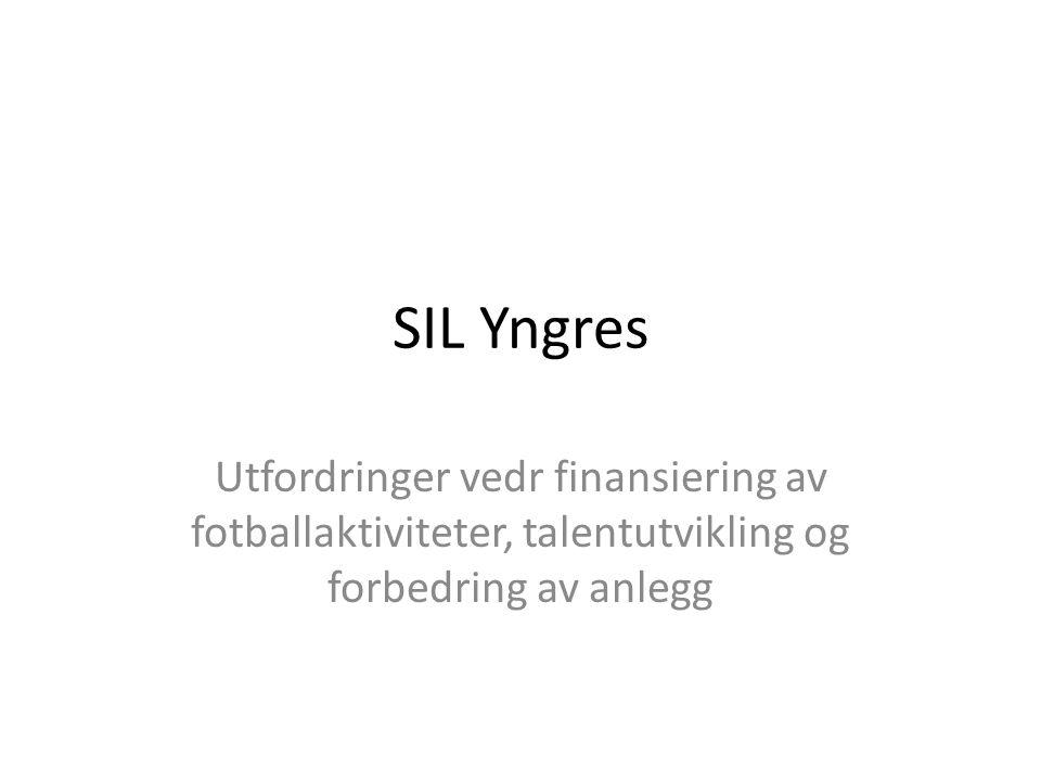 SIL Yngres Utfordringer vedr finansiering av fotballaktiviteter, talentutvikling og forbedring av anlegg