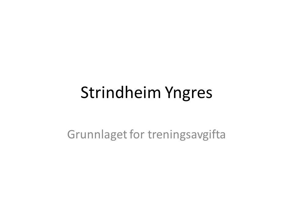 Strindheim Yngres Grunnlaget for treningsavgifta