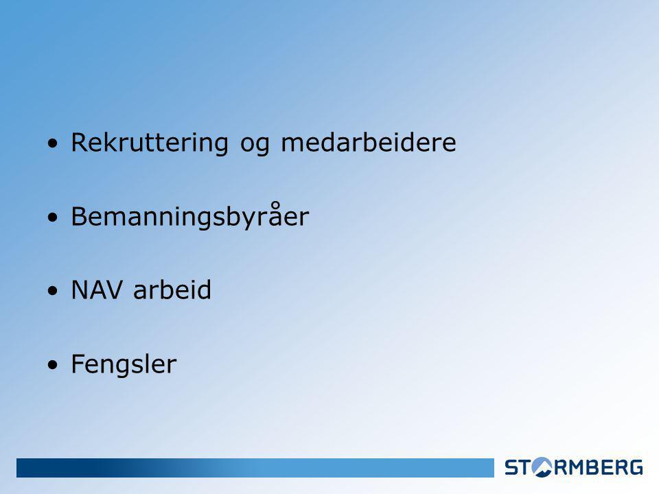 Rekruttering og medarbeidere Bemanningsbyråer NAV arbeid Fengsler