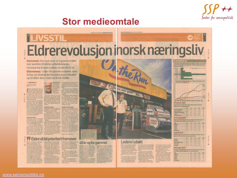 www.seniorpolitikk.no 33 Stor medieomtale
