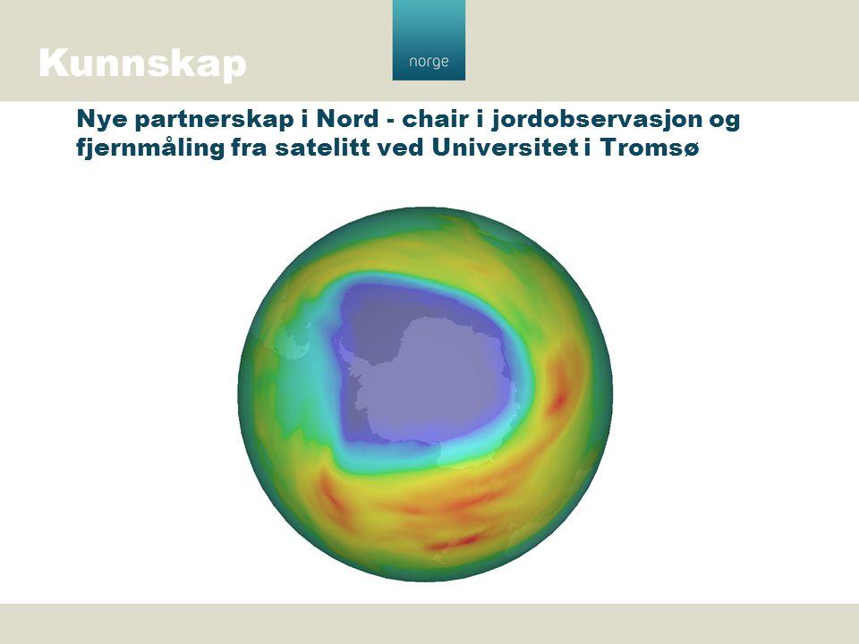 Kunnskap Nye partnerskap i Nord - chair i jordobservasjon og fjernmåling fra satelitt ved Universitet i Tromsø